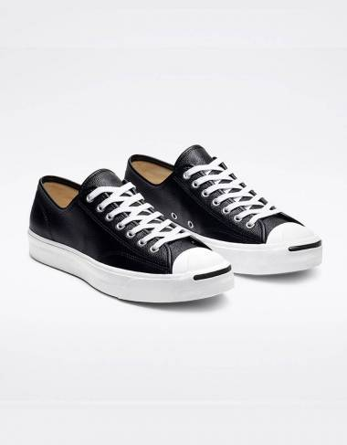 Converse Jack Purcell Leather Low Top - Black/white Converse Sneakers 72,95 € -15%