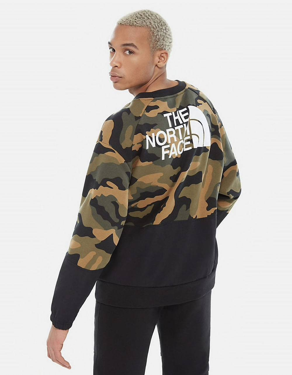 THE NORTH FACE Graphic Crewneck sweater - Burnt Olive Green Camo THE NORTH FACE Sweater 69,67€