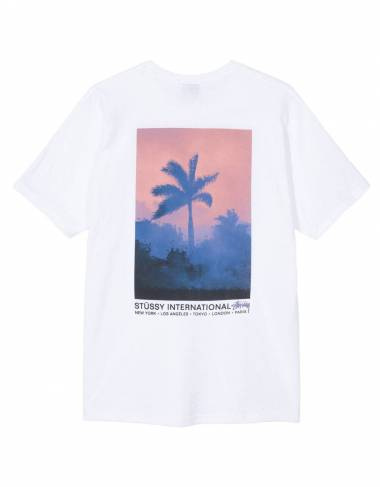 Stussy Fire Palm tee - White Stussy T-shirt 40,16 € -15%