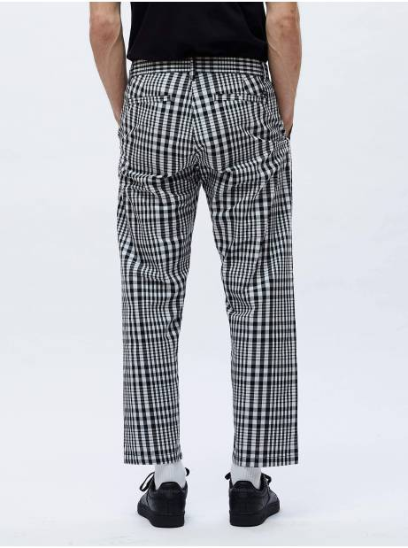 Obey Straggler plaid flooded pant - Black multi obey Pant 106,00€
