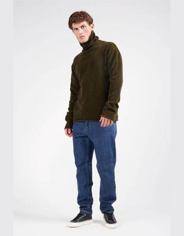 Paura Virgil highneck chenille sweater - Green Paura Knitwear 161,48 € -30%