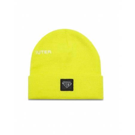Iuter logo fold beanie - Neon Yellow IUTER Beanie 31,97€