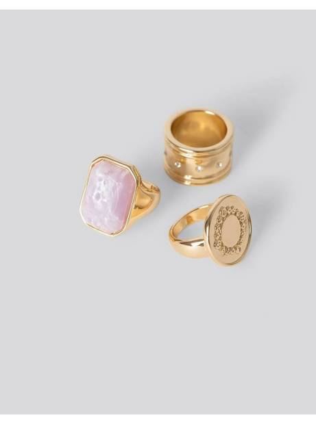 NA-KD Mixed Stone Rings - gold NA-KD Rings 26,00 €