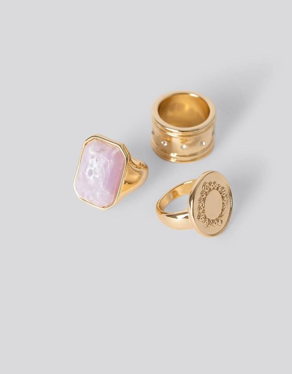NA-KD Mixed Stone Rings - gold NA-KD Rings 26,00€