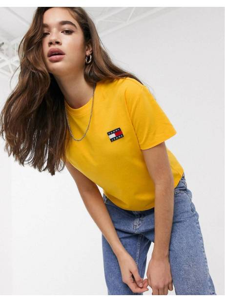 Tommy Jeans woman's badge tee - spectra yellow Tommy Jeans T-shirt 36,89 €