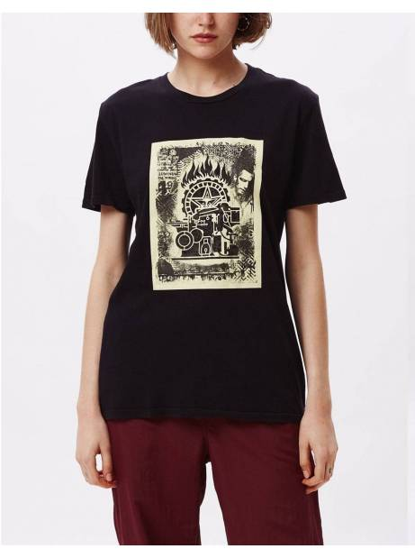 Obey Woman press etching classic tee - black obey T-shirt 40,00€