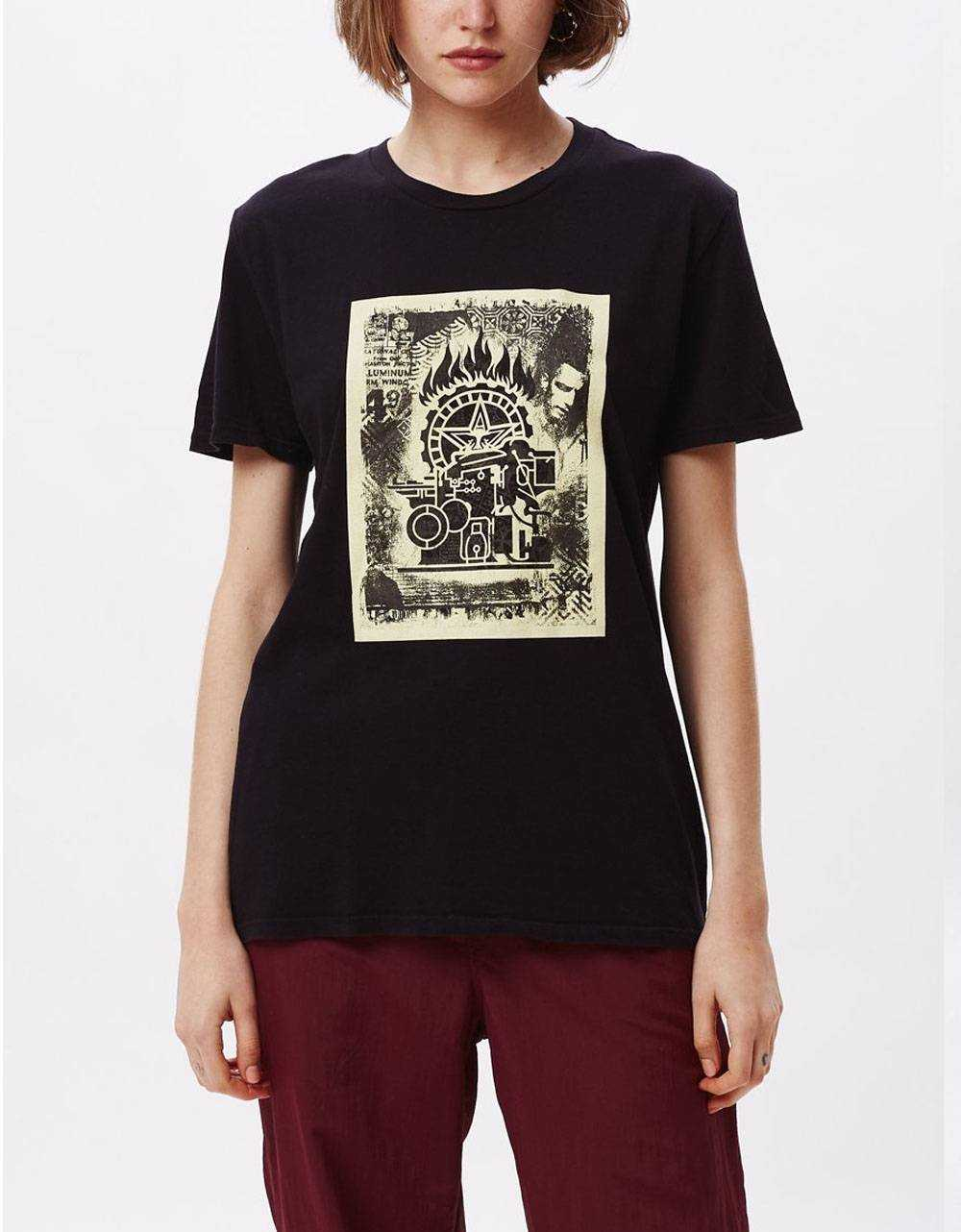 Obey Woman press etching classic tee - black obey T-shirt 45,00€