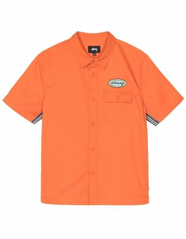 Stussy side taped garage shirt - Orange Stussy Shirt 122,00 €