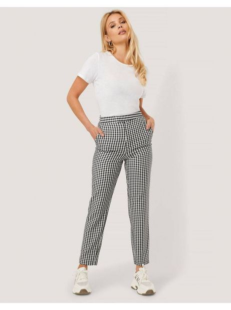 NA-KD by Nicole Mazzoccato high waist checkered suit pant - checkered NA-KD Pants 64,75€