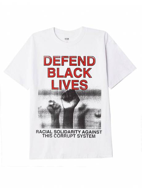 Obey defend black lives 2 tee - white obey T-shirt 37,70 €