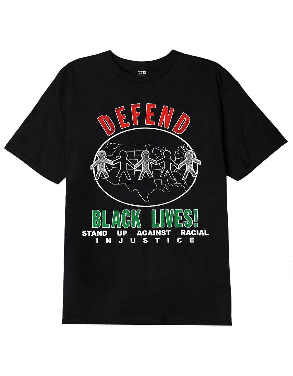 Obey defend black lives tee - black obey T-shirt 37,70€