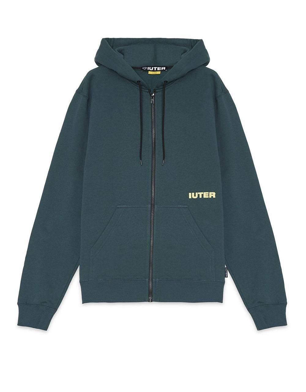 Iuter Double logo zip hoodie - Forest IUTER Sweater 96,00€