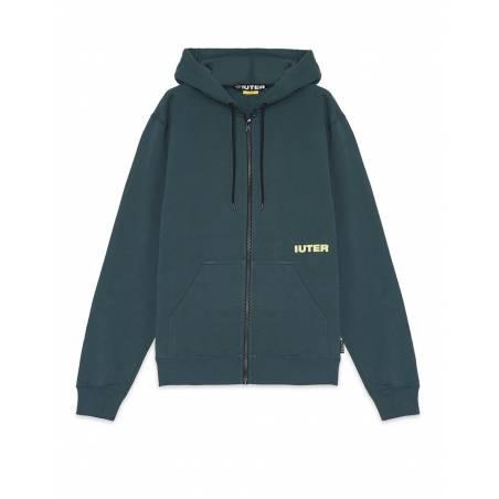 Iuter Double logo zip hoodie - Forest IUTER Sweater 105,00€
