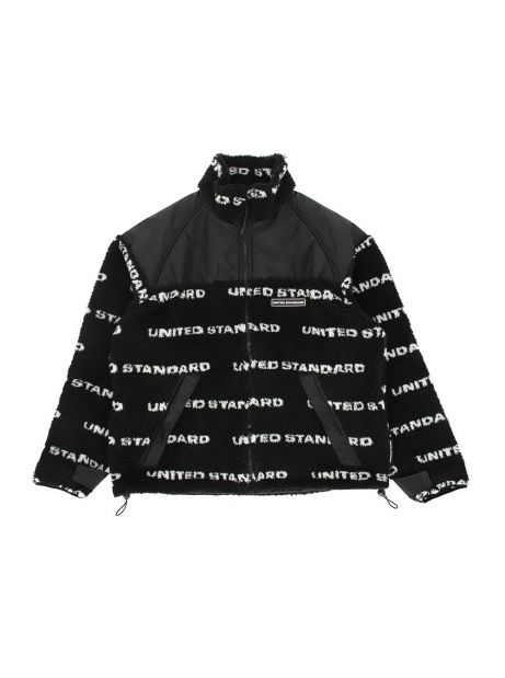 United Standard fleece logo sherpa jacket - black United Standard Bomber 359,00 €