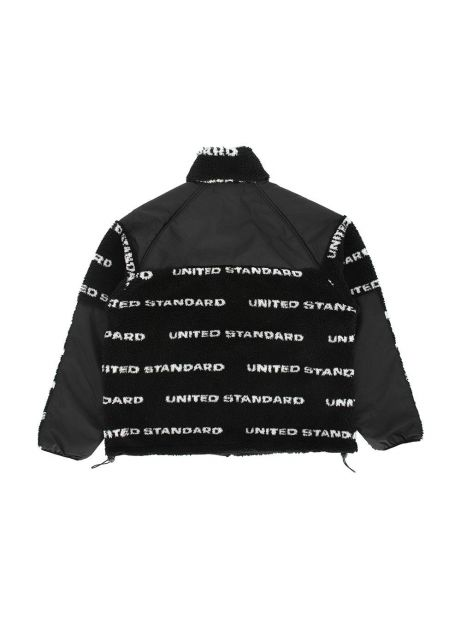 United Standard fleece logo sherpa jacket - black United Standard Bomber 359,00€