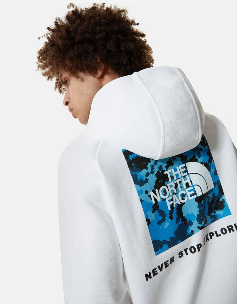 The North Face raglan red box hoodie - White/Clear Lake Blue Himalayan Camo Print THE NORTH FACE Sweater 72,95€