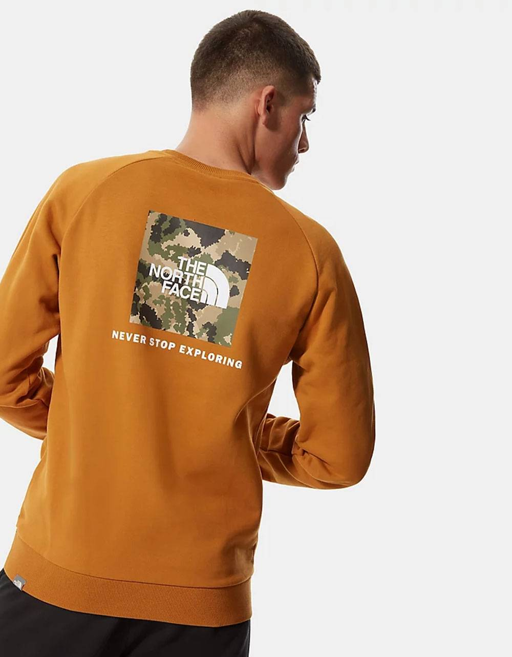 The North Face raglan red box new crewneck sweater - Timber tan/ burnt olive digi camo THE NORTH FACE Sweater 85,00€