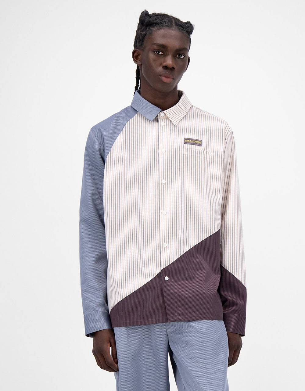 Daily Paper Jadee shirt - lightblue/beige/bordeaux DAILY PAPER Shirt 162,00€