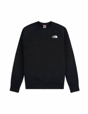 The North Face raglan red box crewneck sweater - Black/red THE NORTH FACE Sweater 85,00€