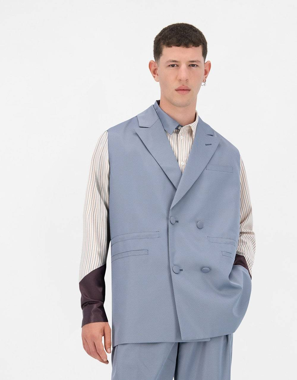 Daily Paper Jether vest - greyblue DAILY PAPER Jacket 131,15€