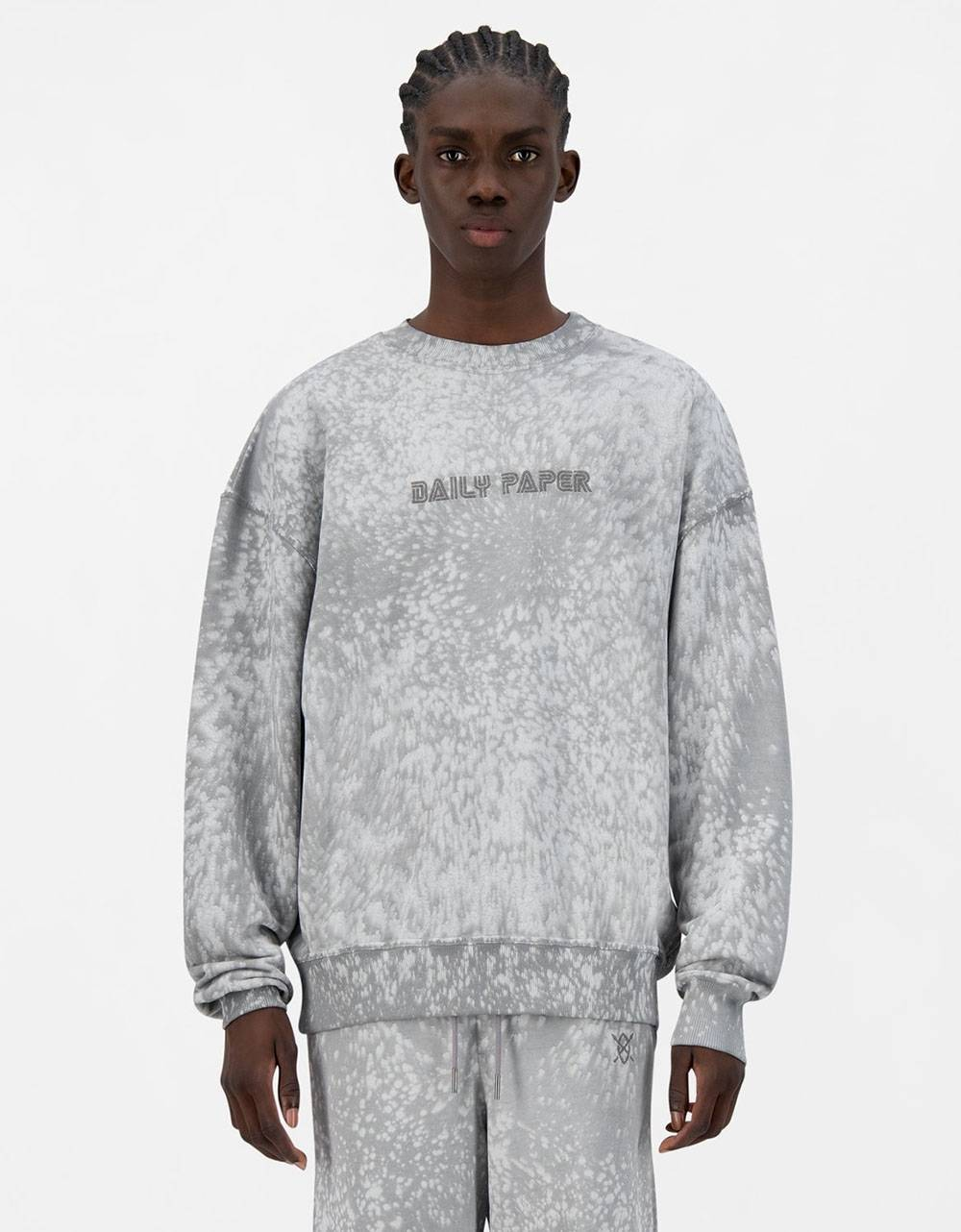 Daily Paper Jerspla crewneck sweater - grey violet DAILY PAPER Sweater 131,15€