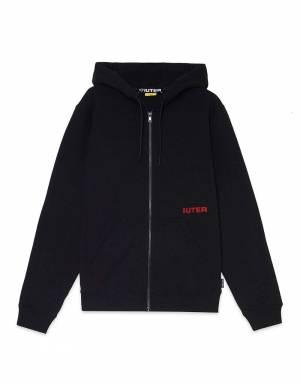 Iuter Double logo zip hoodie - Black IUTER Sweater 99,00€