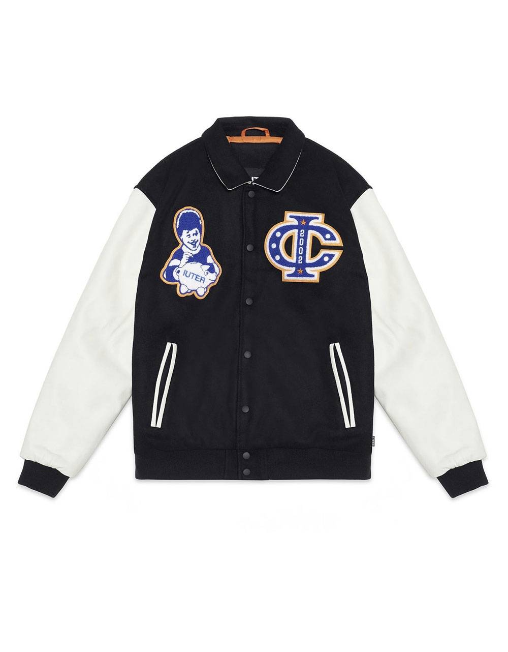 Iuter Fraternity varsity patch jacket - black IUTER Jacket 299,00 €