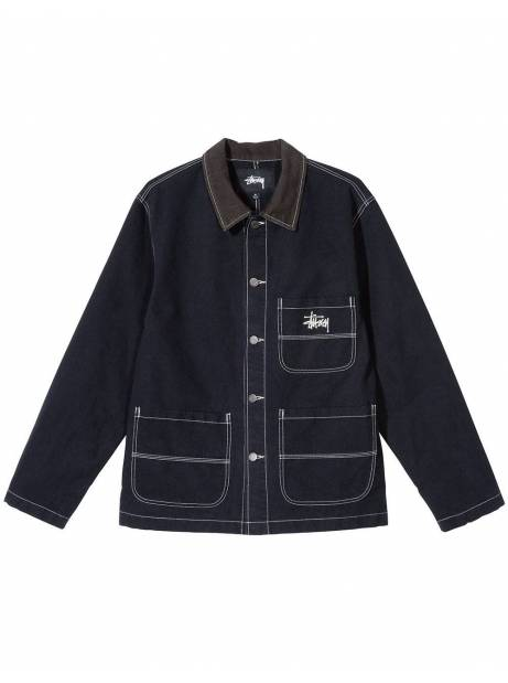 Stussy brushed moleskin chore workshirt jacket - navy Stussy Jacket 219,00 €