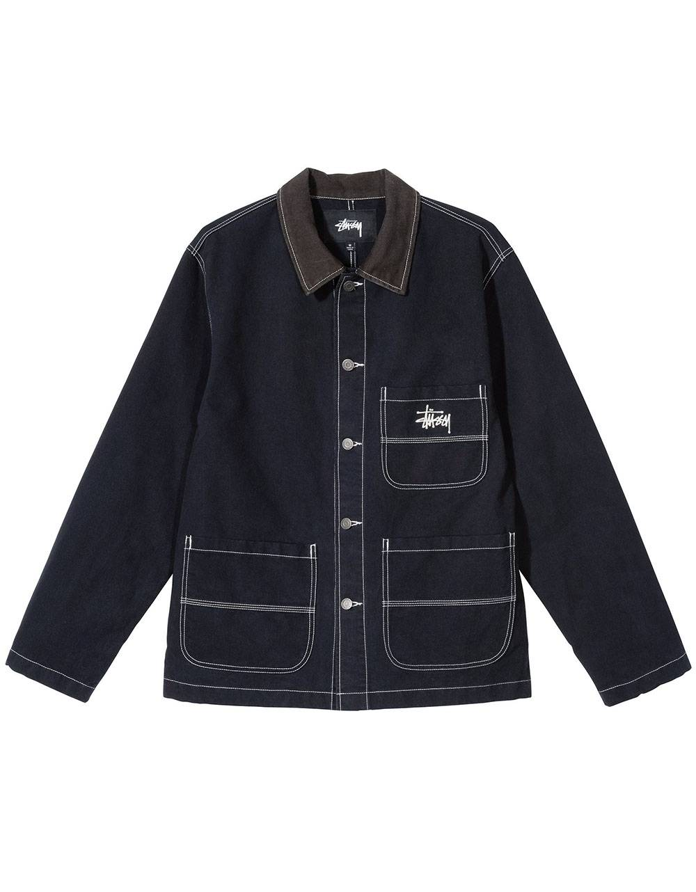 Stussy brushed moleskin chore workshirt jacket - navy Stussy Jacket 209,00 €