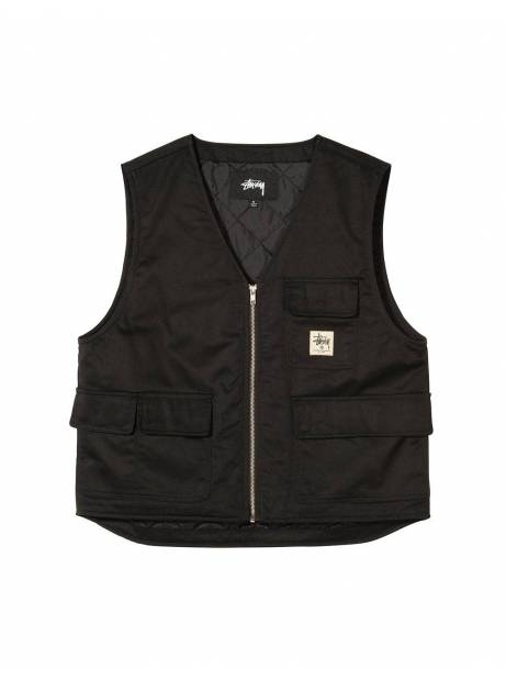 Stussy insulated work vest - black Stussy Jacket 149,00€