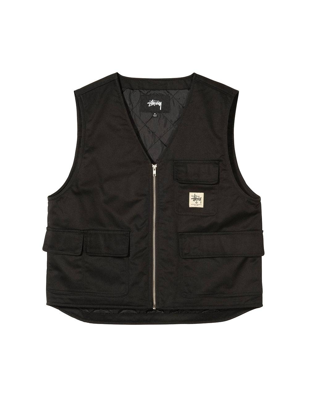 Stussy insulated work vest - black Stussy Jacket 122,13 €