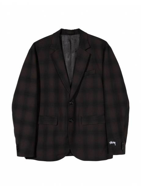 Stussy shadow plaid sport coat jacket - grey plaid Stussy Jacket 201,64 €