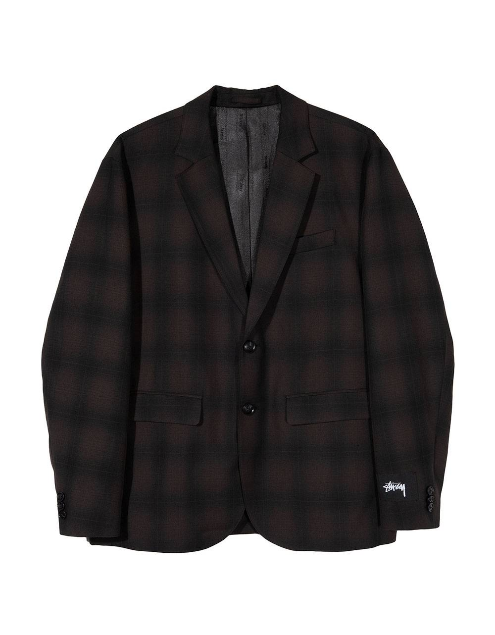Stussy shadow plaid sport coat jacket - grey plaid Stussy Jacket 246,00 €