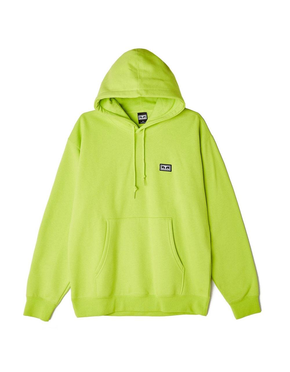 Obey All eyes II hoodie essential fleece - lime obey Sweater 78,69 €