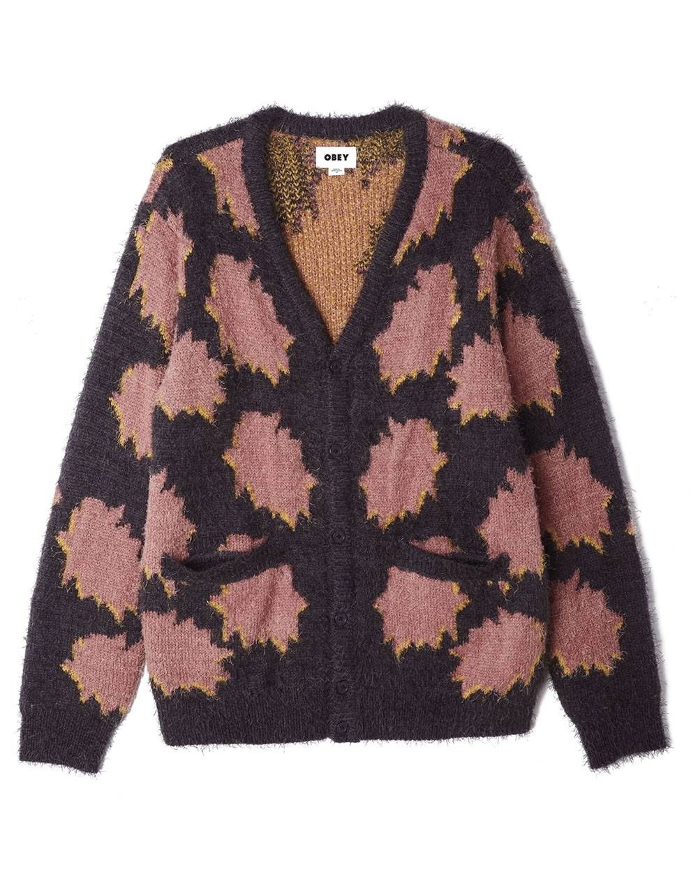 Obey Crackle cardigan - navy multi obey Knitwear 90,16 €
