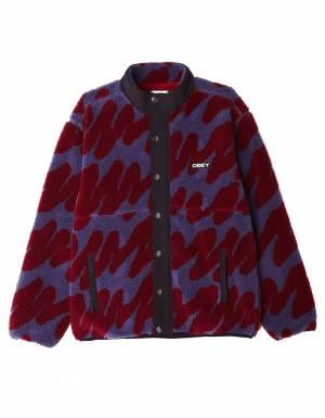 Obey Hense sherpa jacket - purple multi obey Jacket 189,00€