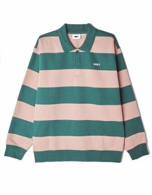Obey ashmore polo fleece - green multi obey Sweater 115,00€