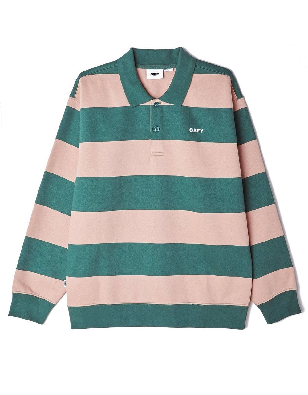 Obey ashmore polo fleece - green multi obey Sweater 94,26 €
