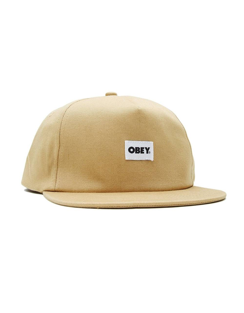 Obey bold label 6 panel strapback hat - almond obey Hat 36,89 €