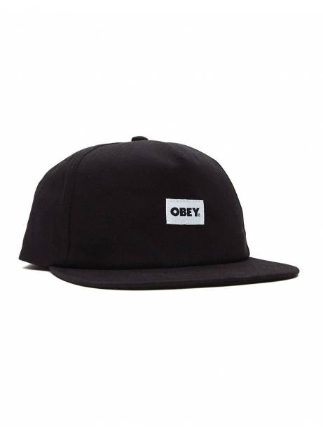 Obey bold label 6 panel strapback hat - black obey Hat 36,89 €