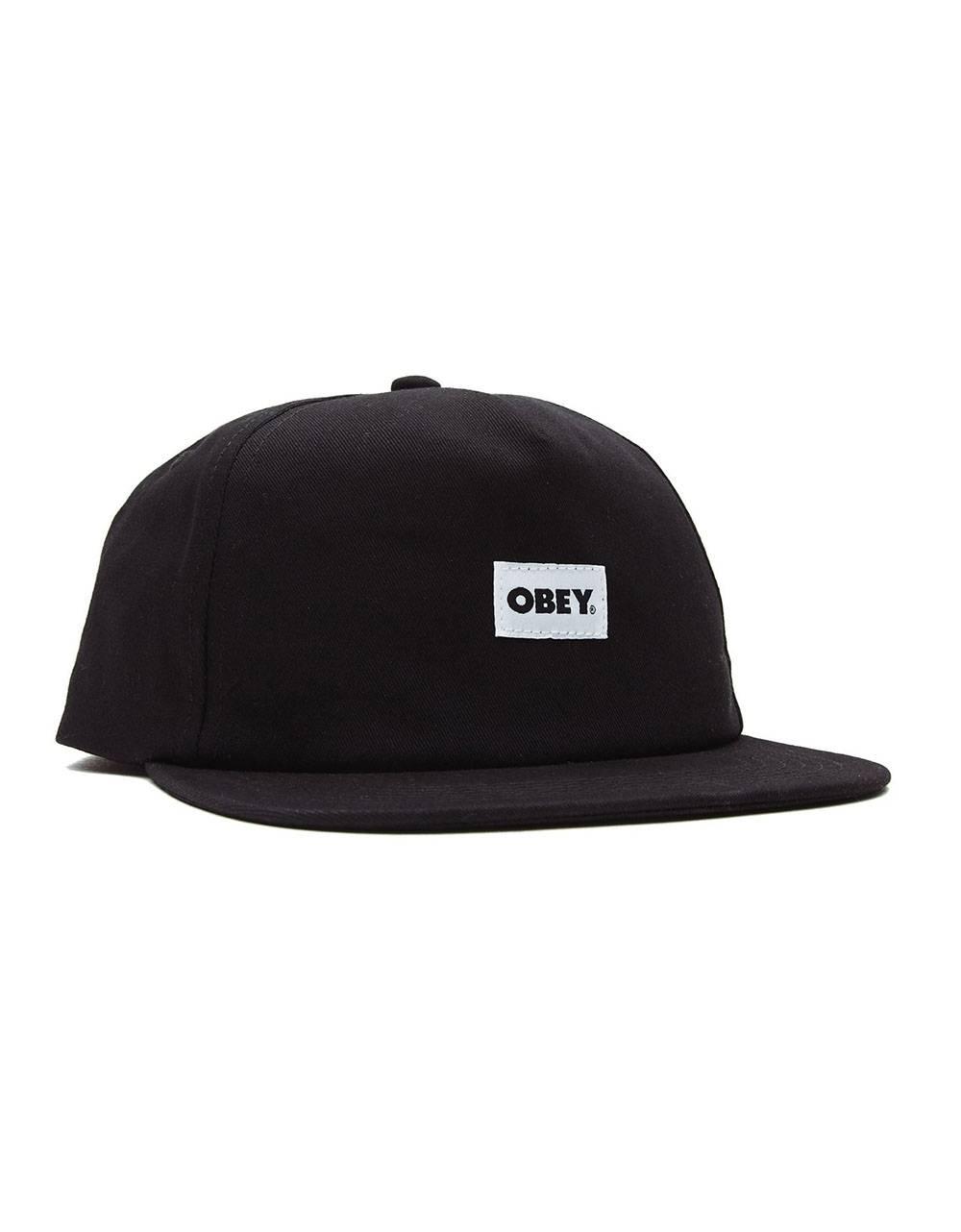 Obey bold label 6 panel strapback hat - black obey Hat 36,89€