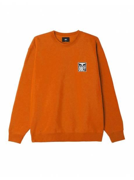 Obey eyes icon II premium crewneck sweater - Pumpkin spice obey Sweater 106,00€