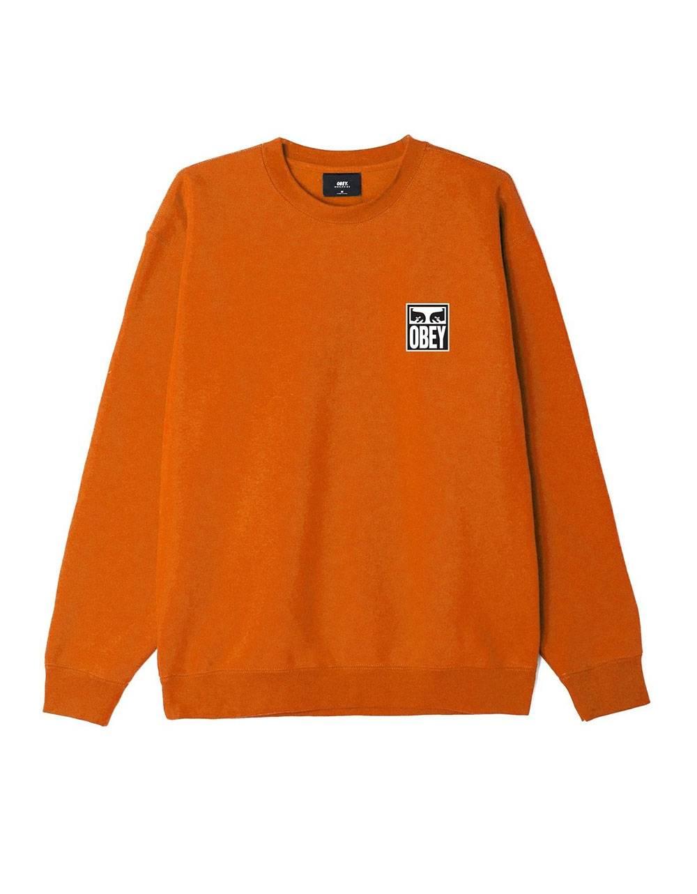 Obey eyes icon II premium crewneck sweater - Pumpkin spice obey Sweater 81,15€