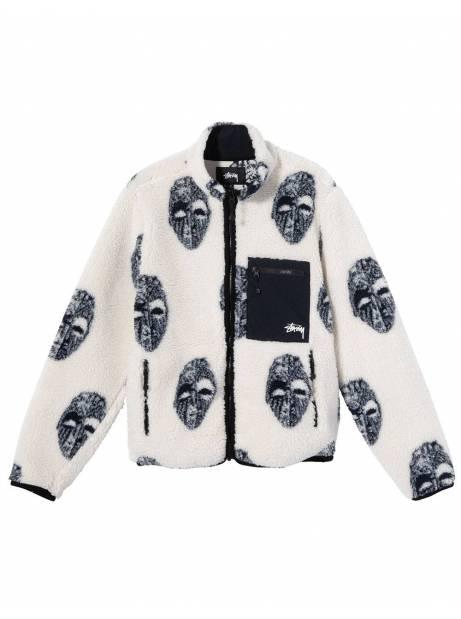 Stussy mask jacquard sherpa - natural Stussy Sweater 182,00€