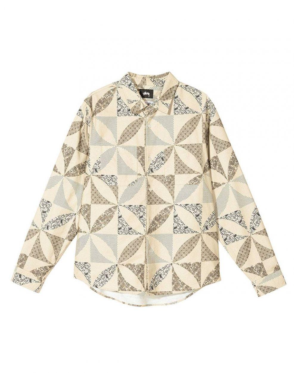 Stussy quilt pattern shirt - sand Stussy Shirt 146,72€