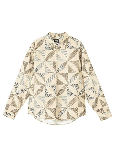 Stussy quilt pattern shirt - sand Stussy Shirt 152,46€
