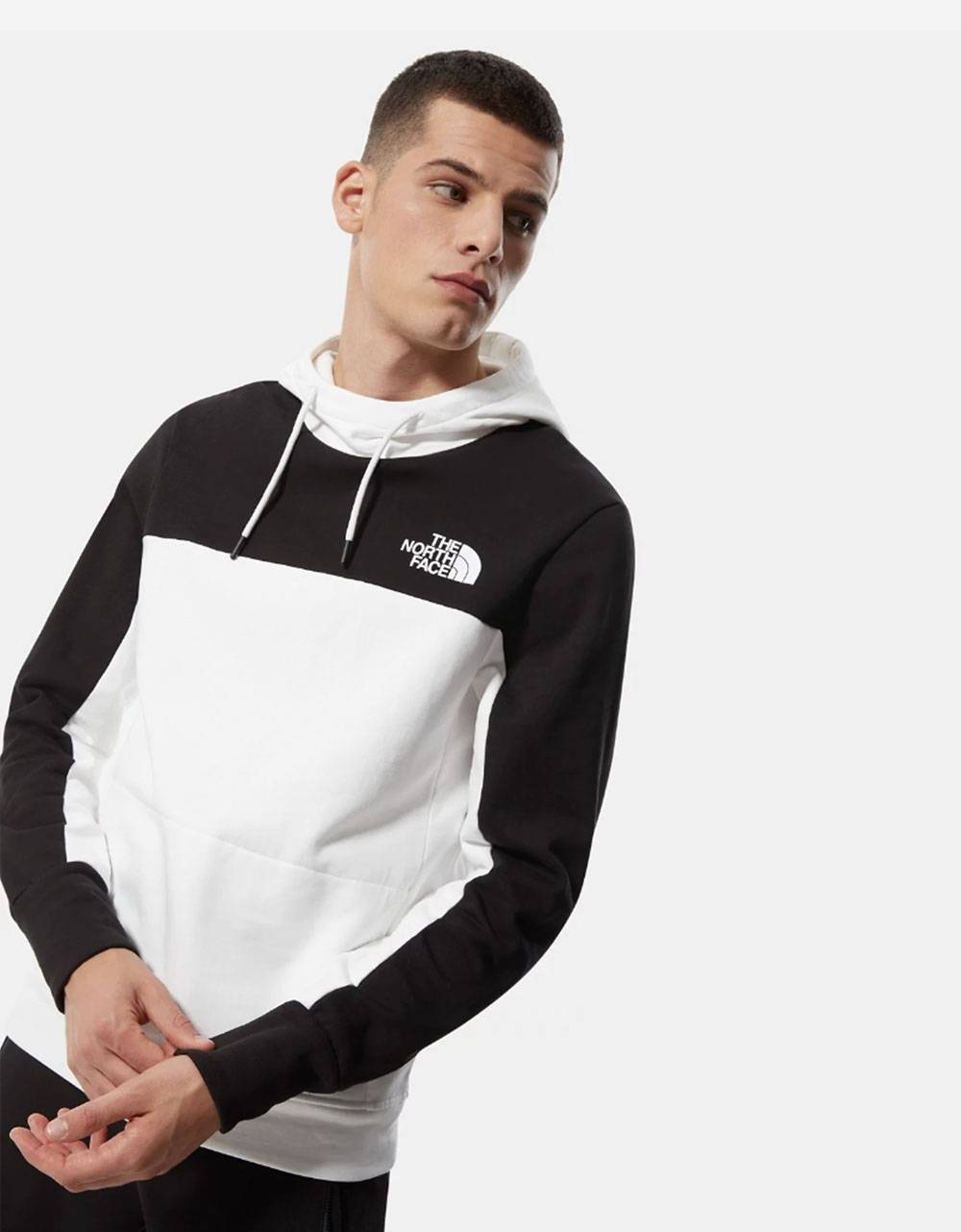 The North Face Himalayan hoodie - white/black THE NORTH FACE Sweater 90,16€