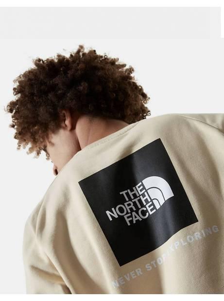 The North Face raglan red box new crewneck sweater - Bleached sand THE NORTH FACE Sweater 92,00€