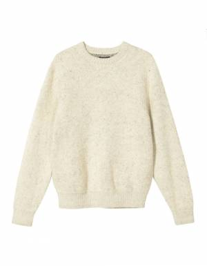Stussy 8 ball heavy brushed mohair knit sweater - cream Stussy Knitwear 179,51 €