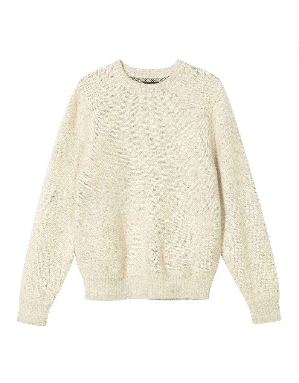 Stussy 8 ball heavy brushed mohair knit sweater - cream Stussy Knitwear 219,00 €